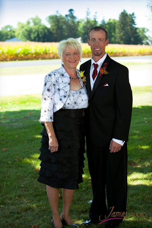 Eric with his mother